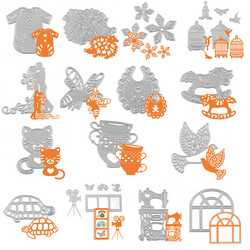 Sunshine In The Store Small 15 shapes kissing couples Metal Cutting Dies Stencil DIY Photo Album Scrapbooking Embossing Album Paper Card Craft Animal
