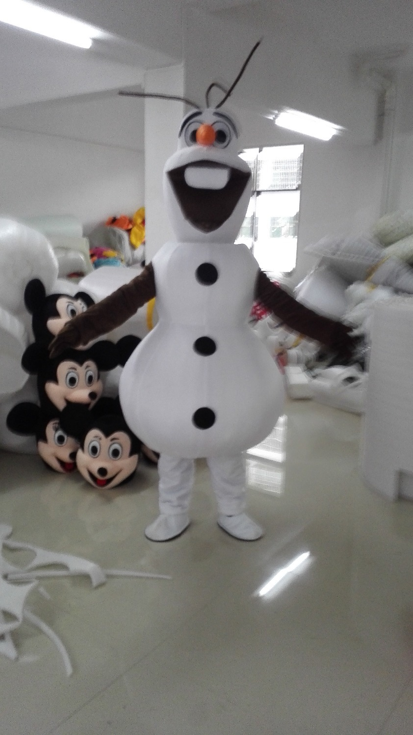 цены New adult snowman mascot masquerade Olaf Christmas Suit fast shipping