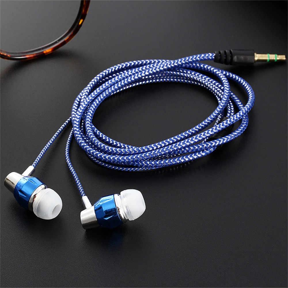 Universal 3.5 มม.หูฟังสเตอริโอหูฟังหูฟังสำหรับโทรศัพท์มือถือหูฟัง