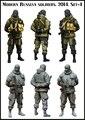 1:35 современные русские солдатики комплект 4