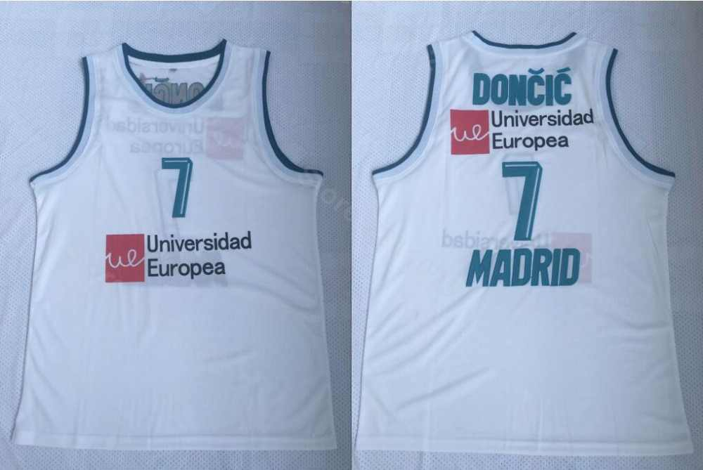 Ediwallen Men 7 Luka Doncic Basketball Real Madrid Euroleague Europe Jerseys  Team Color White All Stitched 7e53e1744