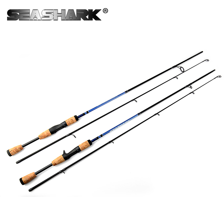 SEASHARK Fishing rod M Power 2 Section Line W 6-12LB Lure W 1/4-3/4oz Spinning Rod 1.8 M Wooden Handle Casting Rod eurocor high carbon fuji accessories 3 m 3 6 m 2 7 m 3 section straight handle lure rod perch rod boat fishing rod