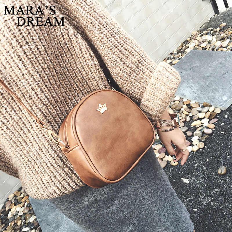 Mara Traum Kleine Frauen Tasche Kaiserkrone Designer Frauen Messenger Taschen Dame Schulter Crossbody-tasche Weibliche PU Leder Handtaschen