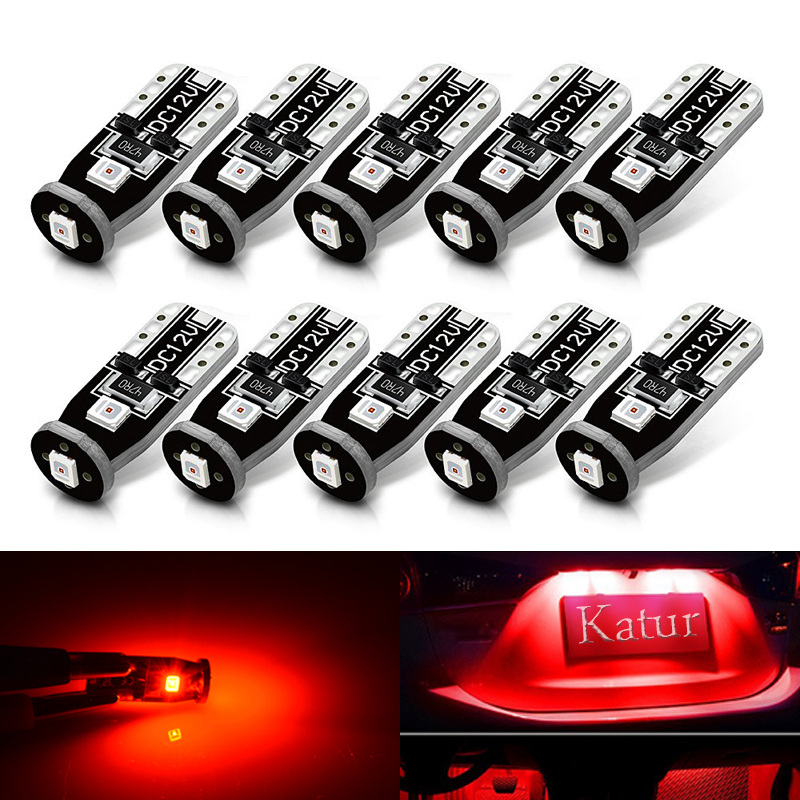 T10 Led Extremely Bright 3030 Chipset LED Bulbs for Car Interior Dome Map Door Courtesy Light bulb Compact 175 168 194 2825 Red