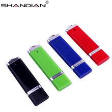 SHANDIAN LOGOTIPO do cliente plástico mais leve forma pendrive 4GB 16GB GB GB 64 32 8GB Negócios USB Flash Drive Memory Stick USB 2.0