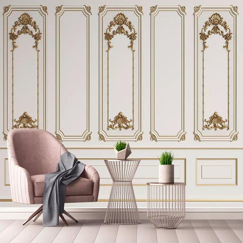 European Style 3D Stereo Door Frame Gypsum Photo Wallpaper Living Room Bedroom Luxury Home Decor Mural Wallpaper Papel De Parede