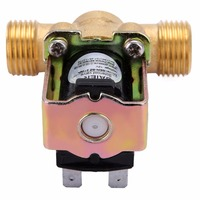 1pc Mayitr Brass Solenoid Valve 12V 1 2 2 Way Normally Closed Pressure Regulating Electric Solenoid