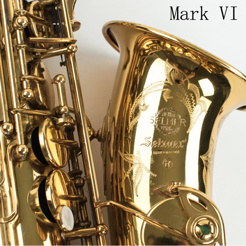 Fedex DHL Free Copy Selmer Mark VI Alto Saxophone Near Mint 97% Original Lacquer Gold Sax Alto Eb with mouthpiece ,case,gloves tenor saxophone free shipping selmer instrument saxophone wire drawing bronze copper 54 professional b mouthpiece sax saxophone
