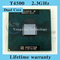 Lifetime warranty Pentium Dual Core T4500 2.3GHz 1M 800 Notebook processors Laptop CPU Socket P 478 pin Computer Original
