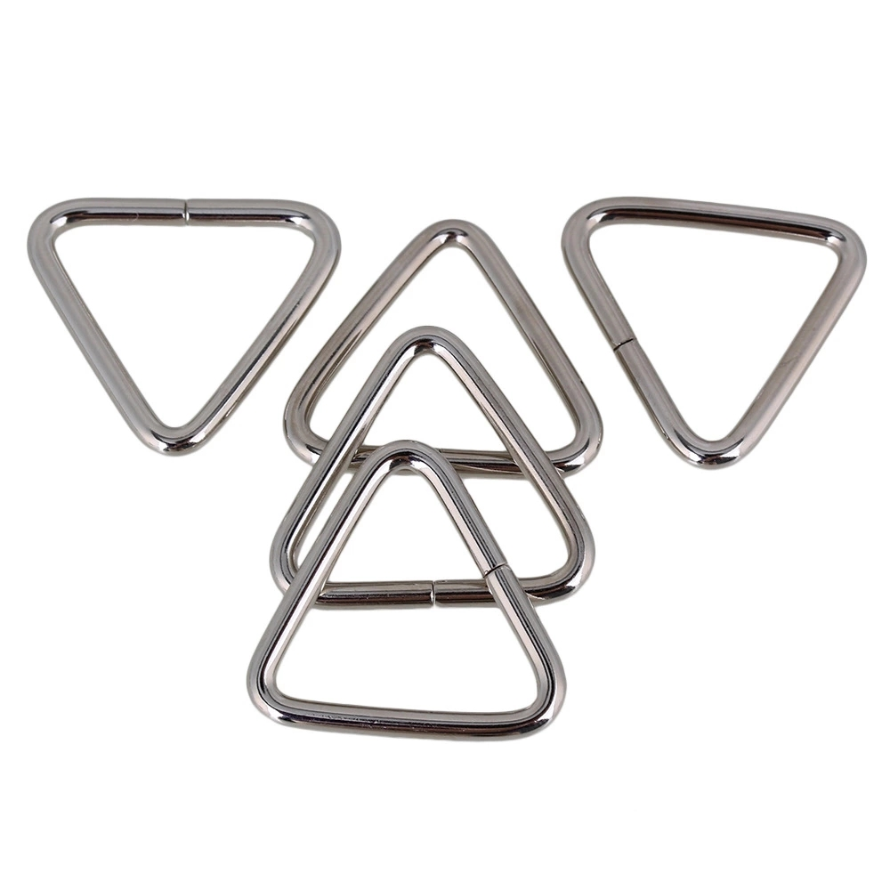 20pcs Metal Triangle Rings And Triangle Loop Buckle For Luggage Handbags 2.5cm