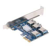 PCI E 1X To 4 PCI Express 16X Slots Riser Card External Adapter PCIe Port Multiplier