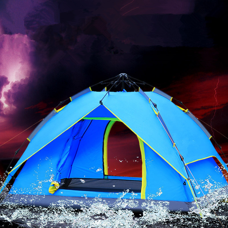 US $170 0 |Wnnideo 3 4 Person Hydraulic Automatic Tents Outdoor Camping  Supplies Double Decker Camping Tents Wholesale-in Tents from Sports &