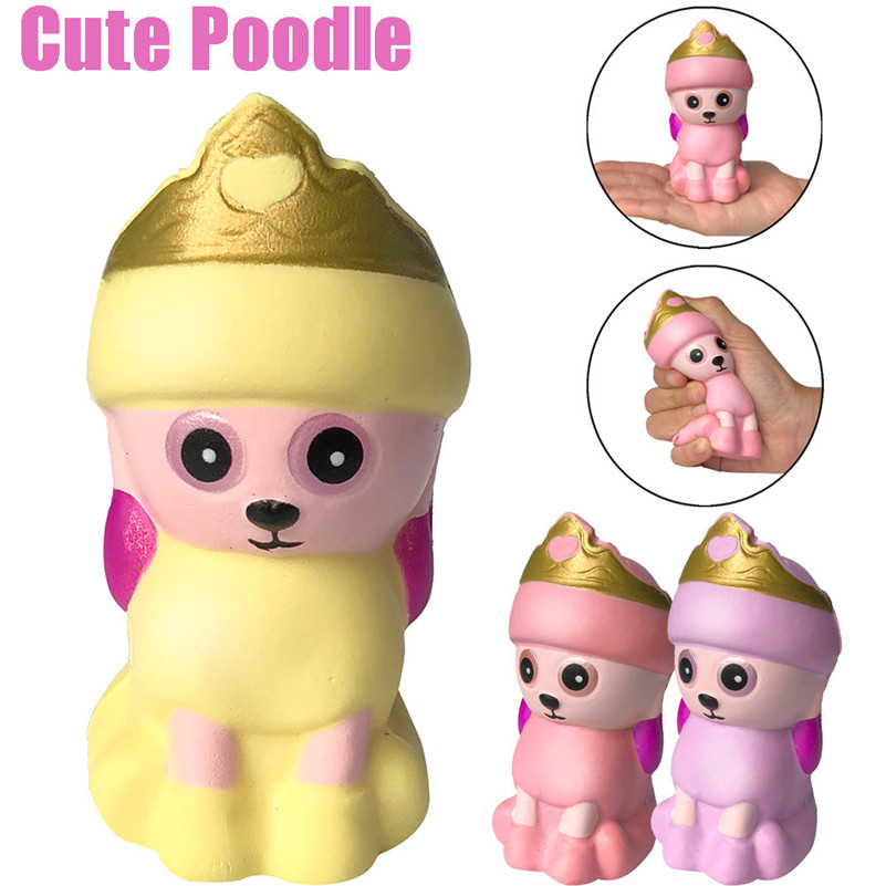Squishies Adorable Poodle Slow Rising Cream Squeeze Scented Stress Relief Toys Kids Child Kawaii Stationery Toys A1