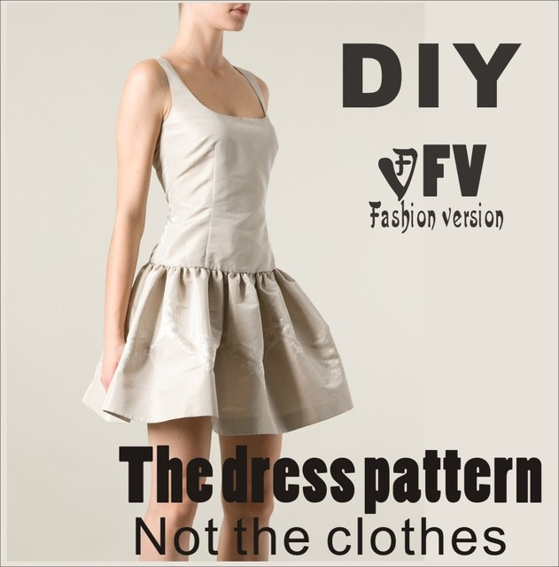 Clothing Diy The Dress Dresses Sewing Pattern Cutting Drawing