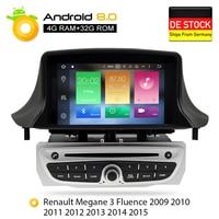 Android 8.0 Car Stereo DVD Player GPS Glonass Navigation for Renault Megane 3 Fluence 4GB RAM Video Multimedia Radio headunit