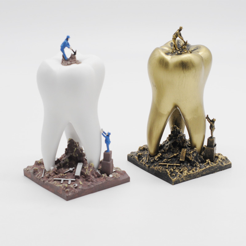 Resin Crafts Toys Dentist Gift Dental Artware Teeth Handicraf Dentistry Clinic Decoration Furnishing Articles Creative Sculpture