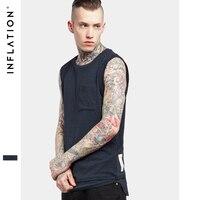 INFLATION 2017 Summer Fashion Unisex Men S Extended Elongated Tank Top Patchwork Summer Vest