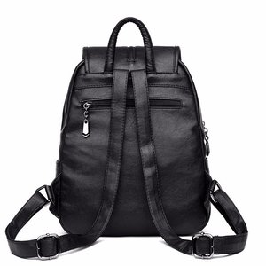 Image 3 - 2018 Women Backpack High Quality Leisure Rucksack PU Leather Mochila Mother Vintage Bags Top handle Backpacks Fashion Daypack