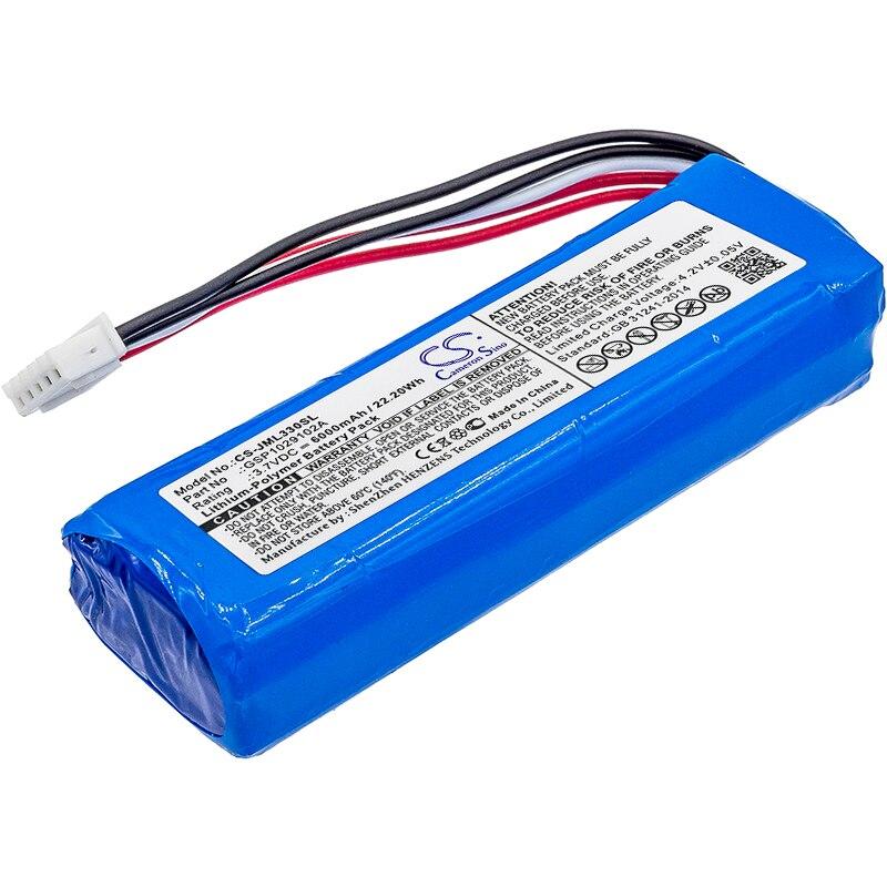 Batterie 6000mAh GSP1029102A pour Charge JBL 3 (veuillez vérifier la place de 2 fils rouges sur votre ancienne batterie)