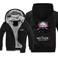 Free Shipping USA Size Men Women Hot Game Hoodies The Witcher 3 Wild Hunt Thicken Hoodie