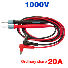 Aiguille multimètre 1000V 20A, 1 paire, pointe d'aiguille, sonde, stylos à Gel de silice ordinaire pointu pour testeur de pointe numérique