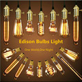 Desván American Vintage Luces Colgantes de Cobre Antiguo/Latón E27 Lámparas Colgantes Individuales Con Alambre Trenzado de AC110/220 V Bombillas de Edison
