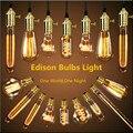 Loft American Vintage Pendant Lights Antique Copper/Brass E27 Single Pendant Lamps With Braided Wire AC110/220V Edison Bulbs