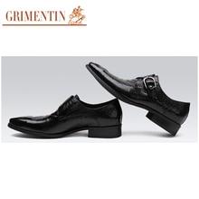 GRIMENTIN Brand Italain fashion men shoes casual genuine leather slip on crocodile style winter shoes men flats shoes men