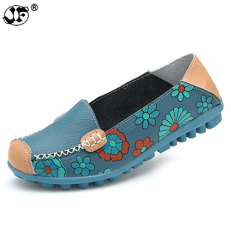 2018 Summer Flower Mother Flats Shoes New Fashion Solid Ladies Flats Round Toe Comforable Loafers Casual Women Shoes 7459 платье morgan morgan mo012ewvac43