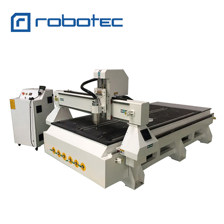 High Efficiency Wood 5 Axis CNC Router Machine With Vacuum And Dust Cleaner