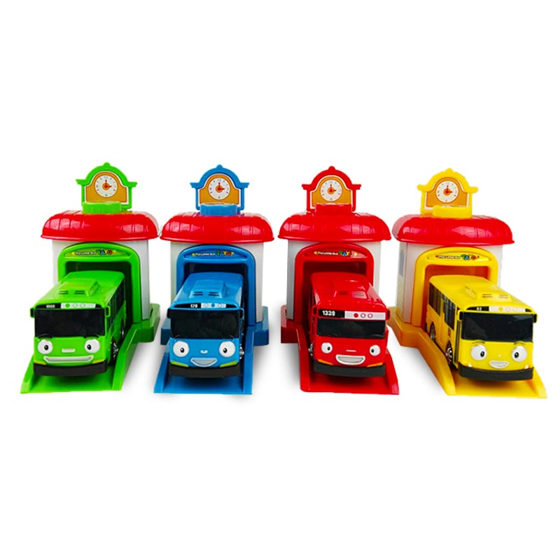 4Pcs/Set Korean Cute Cartoons garage tayo the little bus model mini tayo plastic baby araba oyuncak car for kids Christmas gift4Pcs/Set Korean Cute Cartoons garage tayo the little bus model mini tayo plastic baby araba oyuncak car for kids Christmas gift