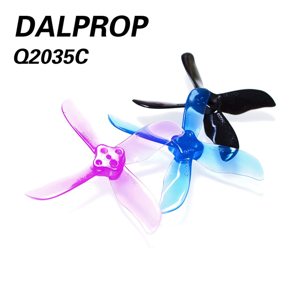 Q2035C Dalprop Cyclone <font><b>2035</b></font> 4-blade <font><b>Propeller</b></font> For 1104 1106 1108 Brushless Motor 80mm 85mm 90mm Frame Kit RC FPV Racing Drone image