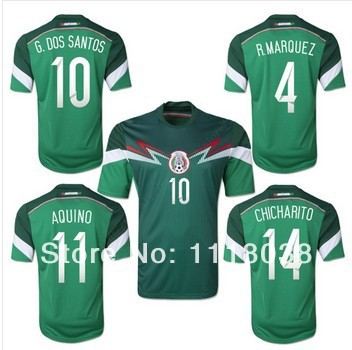 abe0a6102c3 2013-14 Season National team 2014 Brazil World Cup soccer jersey Mexico  football uniform shorts kits 100% cotton AAA quality