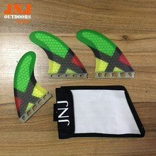JNJ brand new surfboard fin future G5 M fins 3pcs a set surf table thruster with bag