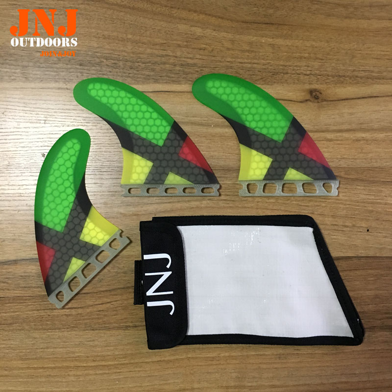 JNJ brand new surfboard fin future G5 M fins 3pcs a set surf table thruster with bagJNJ brand new surfboard fin future G5 M fins 3pcs a set surf table thruster with bag