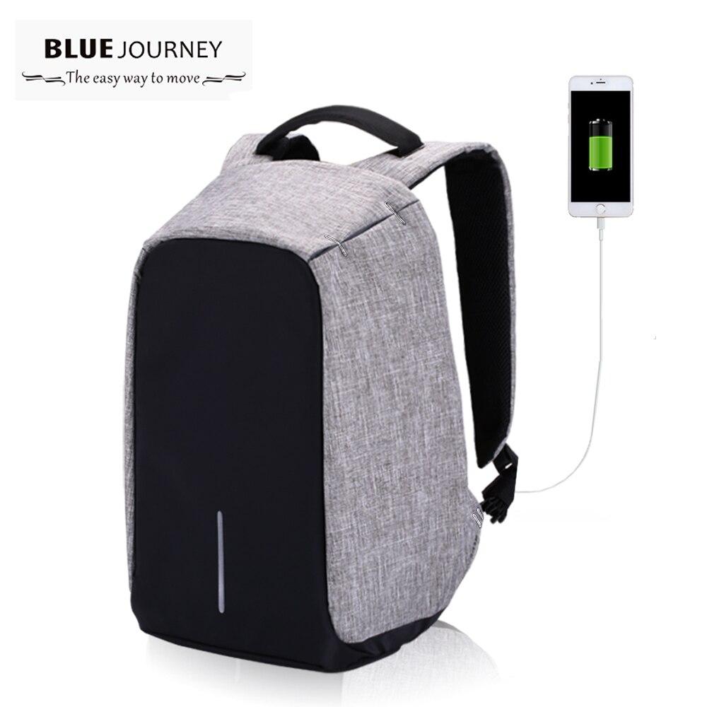 Anti Theft 15 6 Inch Laptop Backpack Men Women External USB Charge Notebook Backpack Schoolbag Mochila