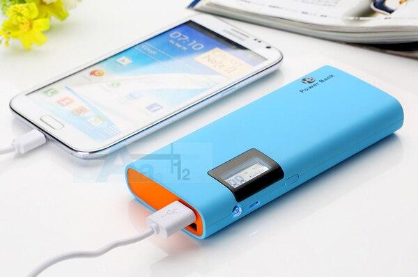 100% Оригинал DCAE Новый 12000 мАч Power Bank Dual USB ЖК Портативный Резервный Зарядное Устройство Для iPhone xiaomi