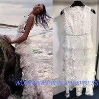 2018 Longt пляжное платье пикантные кружевные платья для женщин Элегантный Скиннер Белый Чешский шнуровка вечерние свадебные платья платье Вад
