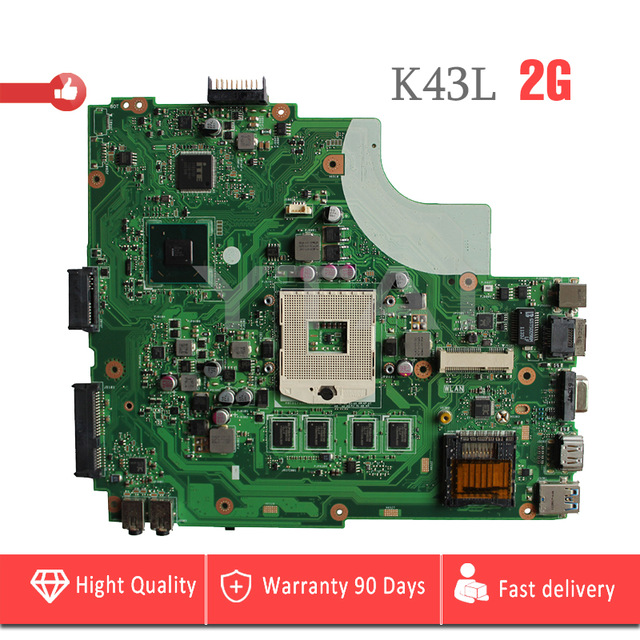 K43L Motherboard REV:4.1 Mianboard for ASUS K43L Laptop Motherboard 2G RAM REV:4.1 USB3.0 PGA989 Mianboard fully TestedK43L Motherboard REV:4.1 Mianboard for ASUS K43L Laptop Motherboard 2G RAM REV:4.1 USB3.0 PGA989 Mianboard fully Tested