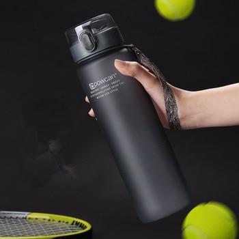 Sport Water Bottles 800/1000ML Protein Shaker Outdoor Travel Portable Leakproof Tritan Plastic Direct Drinking Bottle BPA Free 1