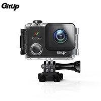 GITUP G3 Duo 2 К HD WI FI гироскопа действие Камера 2,0 дюймов Сенсорный экран Водонепроницаемый угол обзора 170 градусов gps ведомого Камера батарея доп