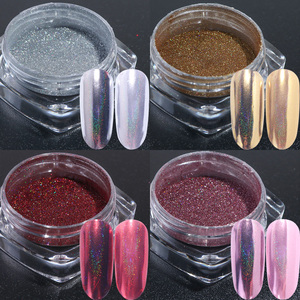 Image 4 - Holographic Powder Nail Glitter Chrome Mirror Pigment Dust Silver Rose Gold Nail Art Decorations Designs Polish Manicure TR966