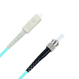 Image 5 - 5 m LC SC FC ST UPC Cable óptico Simplex OM3 multimodo de PVC de fibra óptica de 2,0mm Cable de parche de fibra patchcord óptica puente