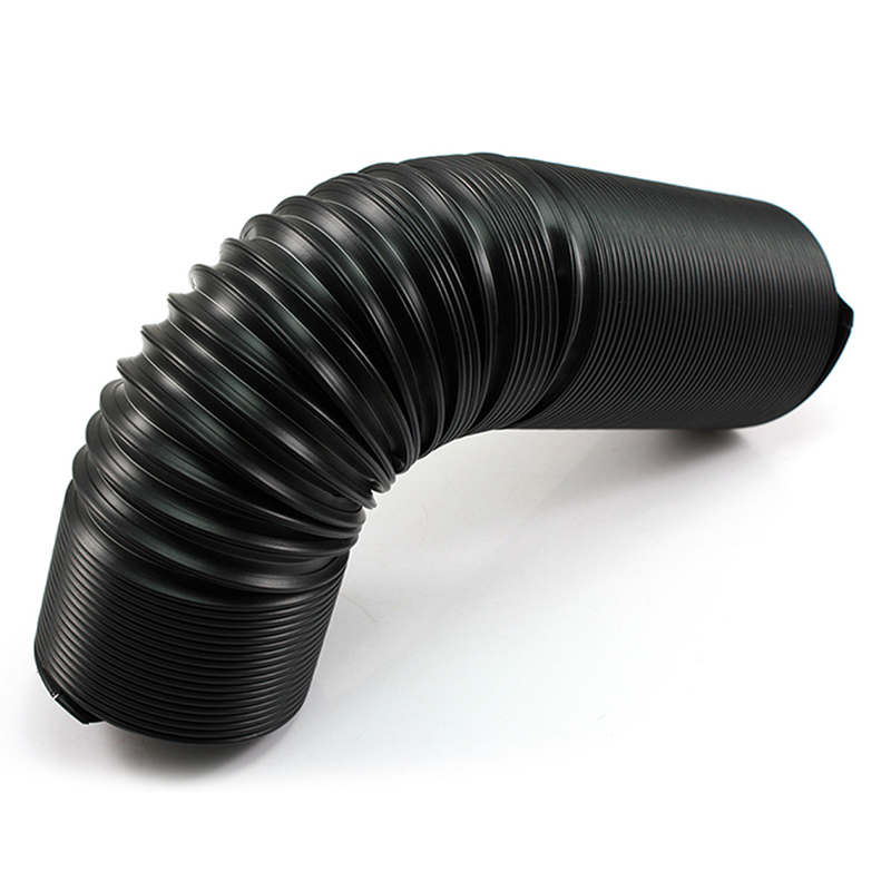 Black 76mm Silicone Rubber High Flow Ducting Intake Admission Bent Stretch Tube Car Inlet Pipe Vacuum Bellow Auto Accessories vacuum pump inlet filters f007 7 rc3 out diameter of 340mm high is 360mm