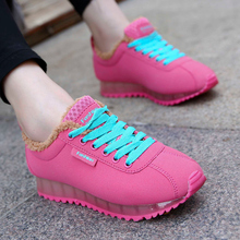 2015 Wholesale and Retail Women's Suede Leather Shoes Flats With Warm Plush Linning for Autumn and Winter Season