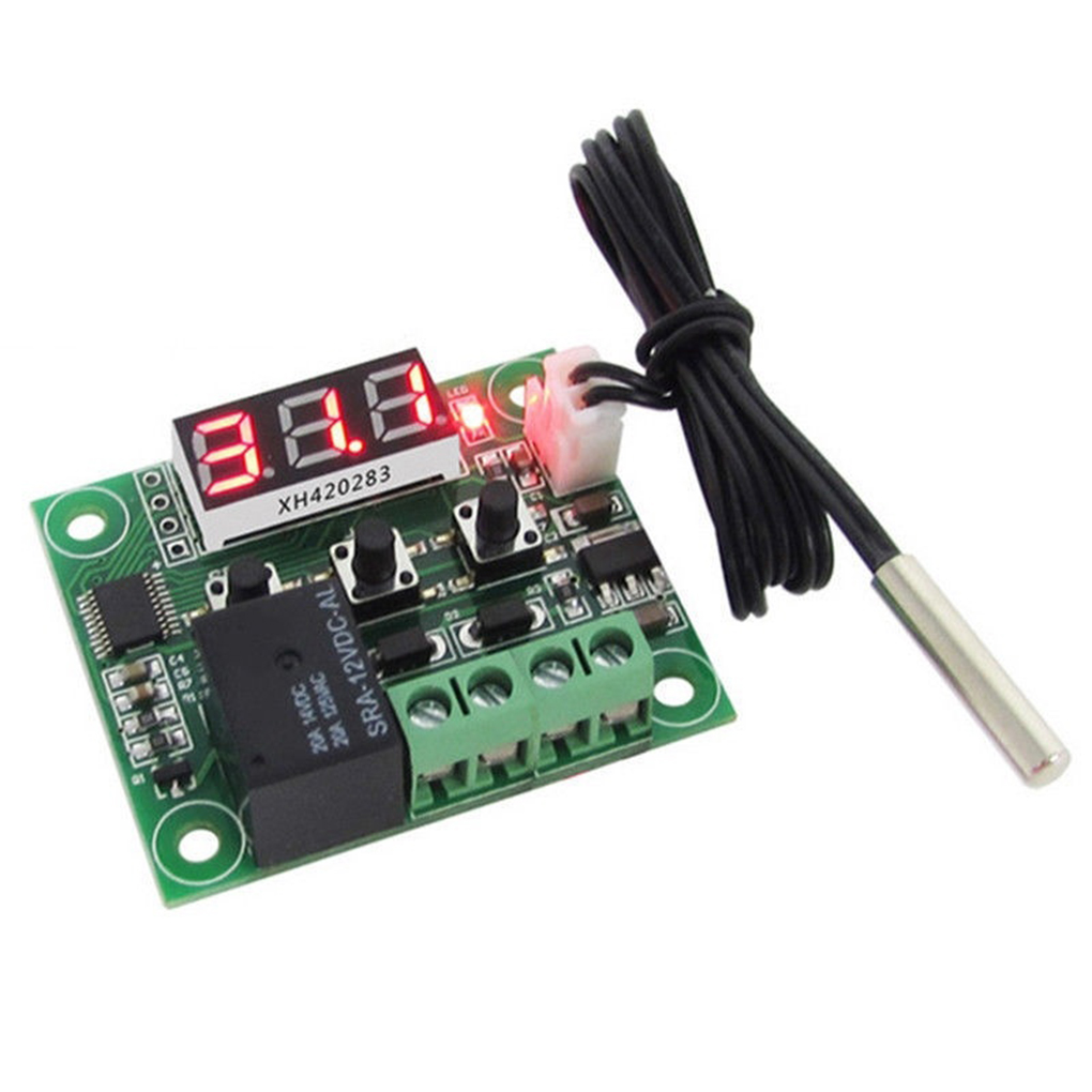 Temperature Switch LCD Display 12V Digital Temp Controller High Precision Waterproof Sensor 20A Relay|Building Automation| |  - title=