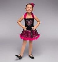 Girls Love Sequin Ballet Dance Dresses Children Dresses Stage Costumes