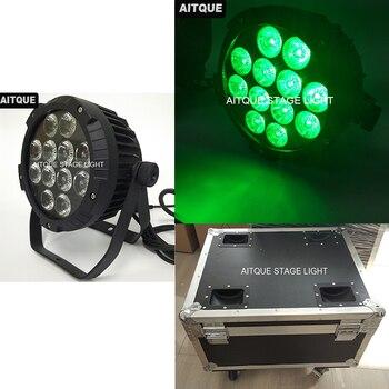 (4 Lote/) Led luces al aire libre par ip65 led par 12x10w led par silm mini led par ip65 luz flycase