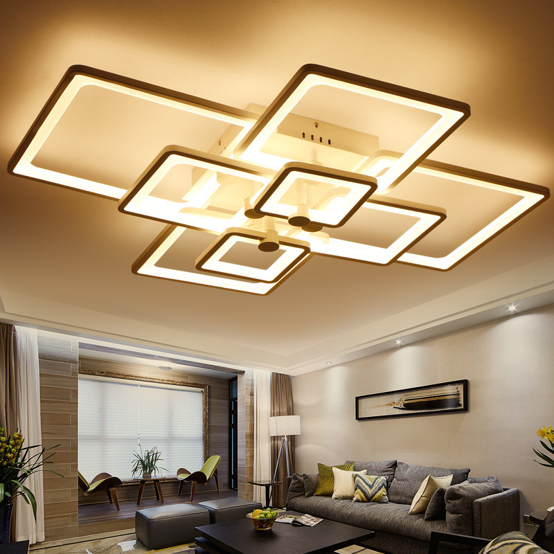 Light Filled Contemporary Living Rooms: Surface Mounted Light Modern Led Ceiling Lights For Living
