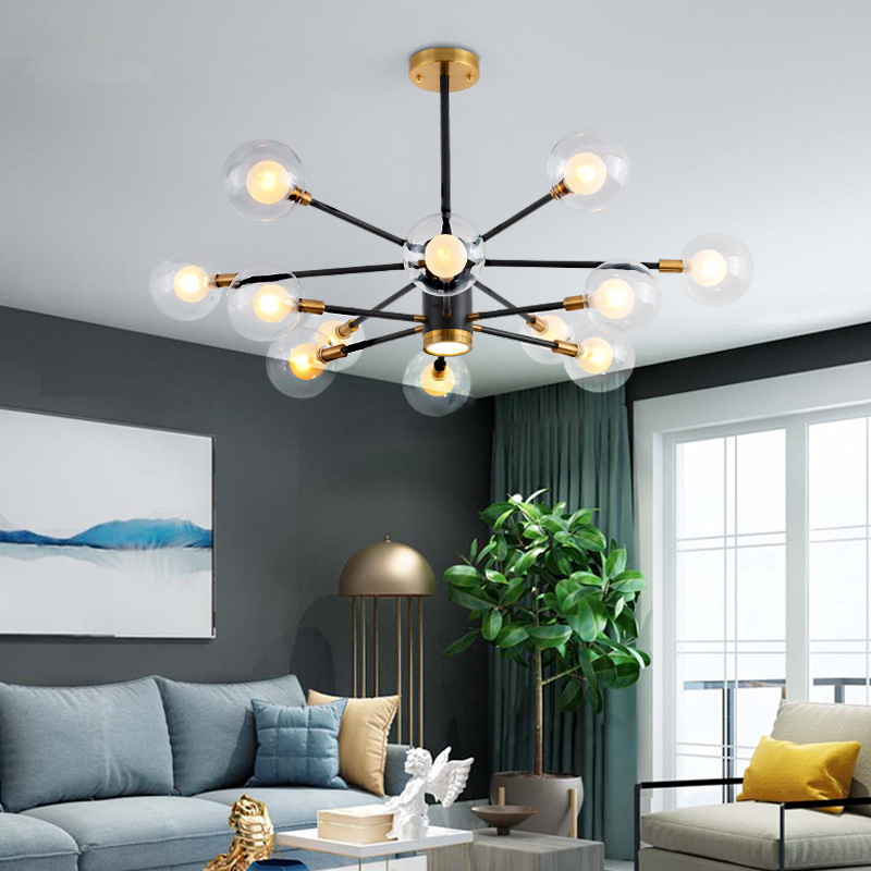 Chandeliers Ceiling Lights & Fans Responsible Led Hanging Lamps Novelty Chandelier American Style Living Room Lights Bedroom Chandeliers Iron Glass Fixtures Nordic Lighting